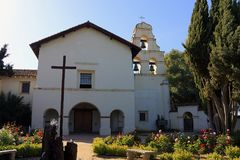 San Juan Batista, Spanish Mission Church in California Royalty Free Stock Photography