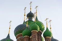 San Juan Bautista la iglesia Yaroslavl, anillo de oro, Rusia fotografía de archivo
