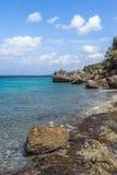 San Juan Beach et roches Image stock