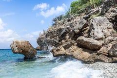 San Juan Beach et roches Photographie stock
