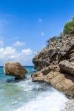 San Juan Beach and rocks Stock Image