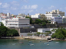 San Juan Buildings And Boats Royalty Free Stock Photos