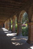 San Juan Capistrano missions archways with garden Royalty Free Stock Photo