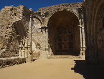 San Juan Capistrano missions ruins Stock Photos