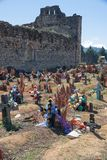 San Juan Chamula cemetary, Chiapas, Mexico Royalty Free Stock Photo