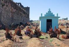 San Juan Chamula cemetary, Chiapas, Mexico. SAN JUAN CHAMULA, MEXICO - FEBRUARY 8, 2013: The cemetery of San Juan Chamula, Chiapas, Mexico royalty free stock image