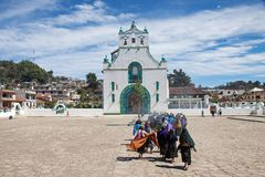 San Juan Chamula, Chiapas, Mexiko stockfotos