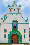 San Juan Chamula church by San Cristobal de las Casas In Mexico. View on San Juan Chamula church by San Cristobal de las Casas In Mexico stock photo