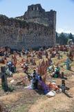 San Juan Chamula cmentarz, Chiapas, Meksyk zdjęcie royalty free