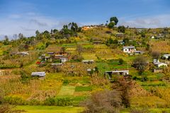 San Juan Chamula, Mexico. NOV 2, 2016: Nature near San Juan Chamula, state of Chiapas, Mexico. The town is inhabited by the indigenous Tzotzil Maya people stock image