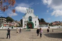 Templo de San Juan Chamula church, Mexico. San Juan Chamula is a municipality and township in the Mexican state of Chiapas. It is situated some 10 km from San stock photography