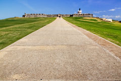 San Juan - chemin d'entrée de château d'EL Morro Photos libres de droits