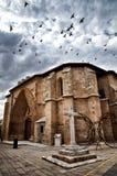 San Juan church, Aranda de Duero, Spain. Aranda de Duero is the capital of the Ribera del Duero wine region. Church of Saint Jonh, San Juan Stock Photos