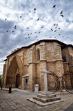 San Juan church, Aranda de Duero, Spain. Aranda de Duero is the capital of the Ribera del Duero wine region. Church of Saint Jonh, San Juan Stock Image