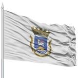 San Juan City Flag sur le mât de drapeau Images libres de droits