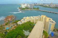 San Juan City Skyline, Porto Rico Photos stock