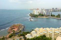 San Juan City Skyline, Porto Rico fotografia stock