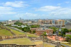 San Juan City Skyline, Puerto Rico stock photo