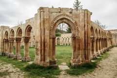 San Juan cloister ruins at Soria in Castilla Spain Stock Image
