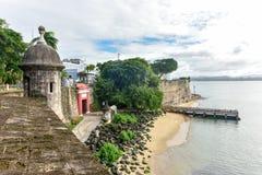 San Juan Coast - Paseo de la Princesa Stockbilder