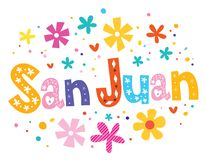San Juan, das dekorative Art beschriftet stock abbildung