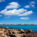 San Juan de Alicante view from Postiguet beach Royalty Free Stock Image