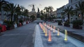 San Juan de Dios Plaza Cadiz Spain royaltyfria foton