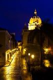San Juan de Dios street. In Cartagena de Indias Stock Images