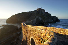 San Juan de Gaztelugatxe in Basque Country Royalty Free Stock Images