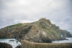 San Juan de Gaztelugatxe, Bermeo, PaÃs Vasco - España fotografía de archivo