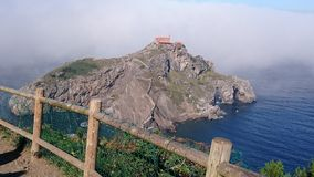 San Juan de Gaztelugatxe & x27; castelo de s Imagens de Stock Royalty Free