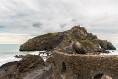 San Juan de Gaztelugatxe church Stock Photo