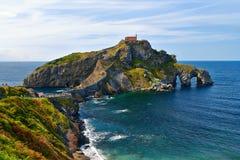 San Juan de Gaztelugatxe en país vasco fotografía de archivo libre de regalías