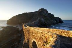 San Juan de Gaztelugatxe en país vasco Imágenes de archivo libres de regalías