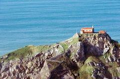 San juan de gaztelugatxe island and church in Bermeo Stock Photography