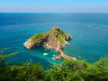 San Juan de Gaztelugatxe in paese basco fotografia stock