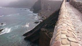 San Juan de Gaztelugatxe & x27; s-bro Royaltyfri Fotografi