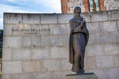 San Juan de la Cruz Statue Avila Castile Spain Royalty Free Stock Photography