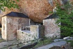 San Juan de la Pena Monastery cerca de Huesca Foto de archivo
