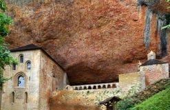 San Juan de la Pena romanesque Monastery Stock Photo
