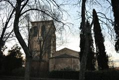 San Juan de los Caballeros kyrka, Segovia royaltyfria bilder