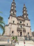 San juan de los lagos. Jalisco iglesia virgen cielo stock images