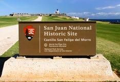 San Juan - de Plaats van Unesco van het Kasteel van Gr Morro Stock Foto
