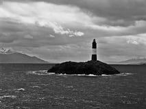 San Juan de Salvamento, Vuurtoren aan het eind van de wereld, Argentinië stock foto