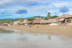 San Juan del Sur main beach at the Pacific Ocean shore, Nicaragu Royalty Free Stock Images