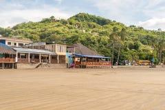 San Juan del Sur main beach at the Pacific Ocean shore Royalty Free Stock Image