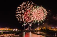San Juan fajerwerki 2017 Obraz Royalty Free