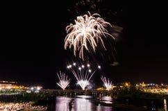 San Juan Fireworks 2017 Lizenzfreie Stockfotos