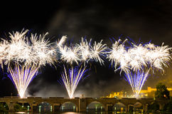 San Juan Fireworks 2017 Lizenzfreies Stockbild