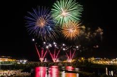 San Juan Fireworks 2017 Stockfotos